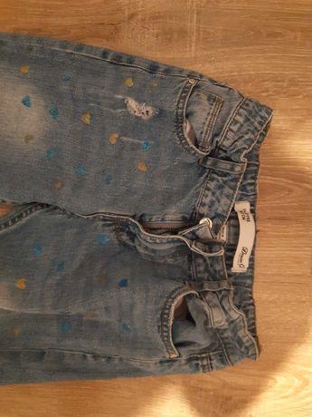 Spodnie dziewczynka 152 cekiny