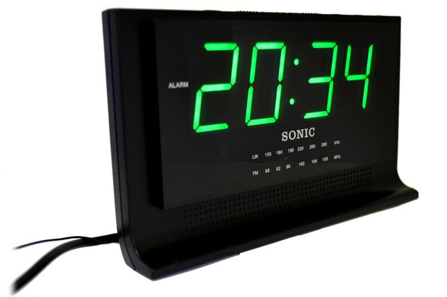 Radiobudzik wyswietlacz LED powystawowe