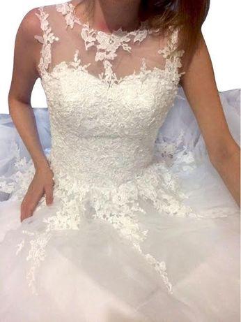 suknia ślubna wesele linia-A koronka 34 XS, 40 l, 42 xl