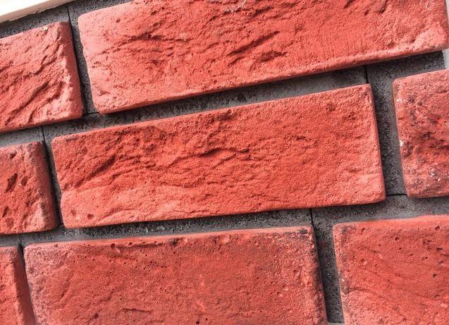 Czerwona cegła z gotową fugą trzy kolory fugi płytki gipsowe 3d HIT!