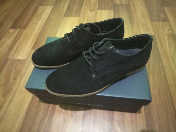 Мужские темно-синии замшевые туфли Tommy Hilfiger