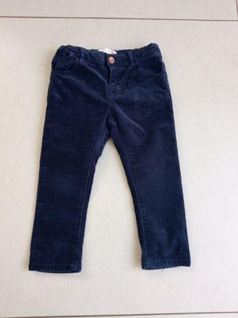 Zara spodnie sztruksowe rozmiar 92