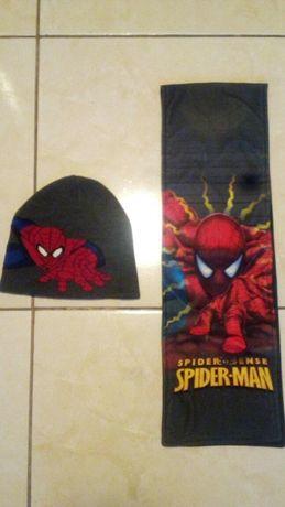 Spiderman czapka-szalik