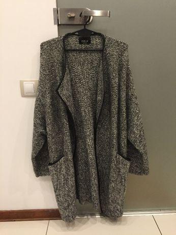 ZARA płaszcz/ sweter