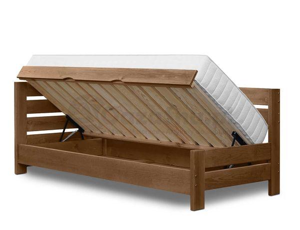łóżko z oparciem i pojemnikiem VERDI 80x200