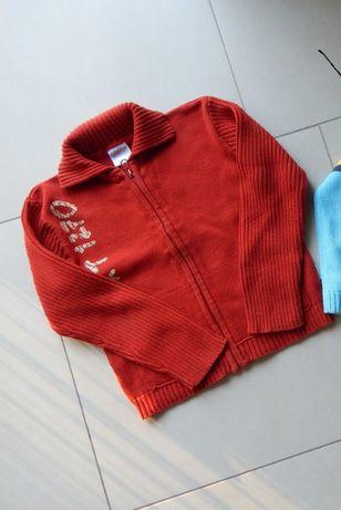 Sweter sweterek rozpinany r. 110 zestaw bdb