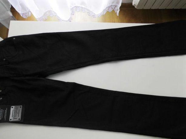 Nowe, czarne dżinsowe spodnie r. 36