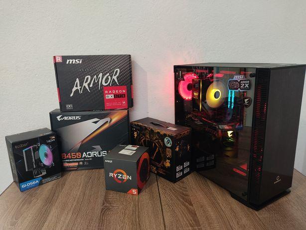Gigabyte B450 Aorus|Ryzen 5 2600|RX 570 4Gb|HyperX Fury 16 Gb 3200|||M