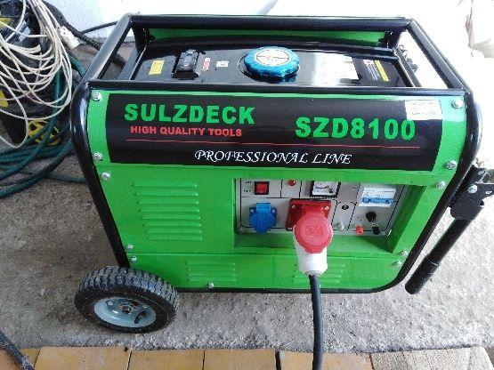 Agregat prądotwórczy SULZDECK SZD 8100 7.2 KW-380V
