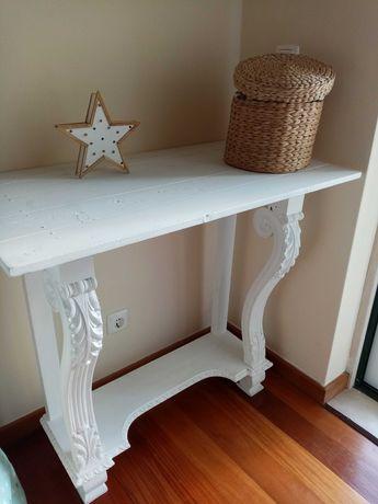 Mesa rústica madeira branca
