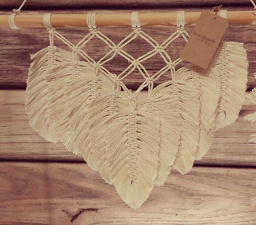 Makrama liście sznurek
