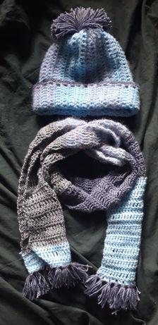 Komplet zimowy czapka i szalik