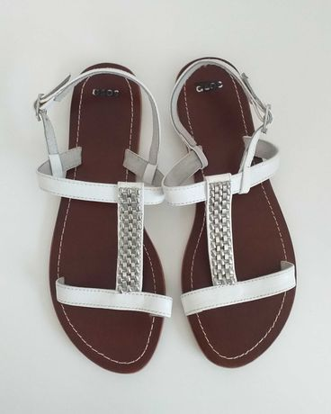 ASOS sandały ze skóry rozmiar 39 NOWE białe damskie
