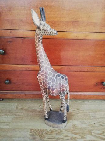 Estatueta Africana girafa