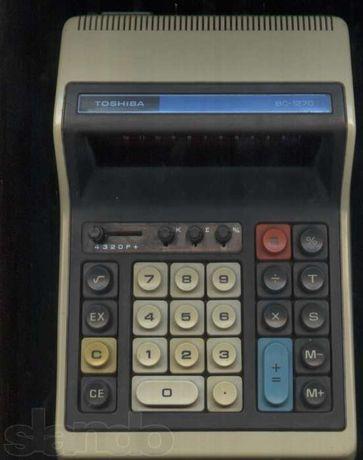 Калькулятор ТОШИБА - ВС 1270 - япония 1980 год