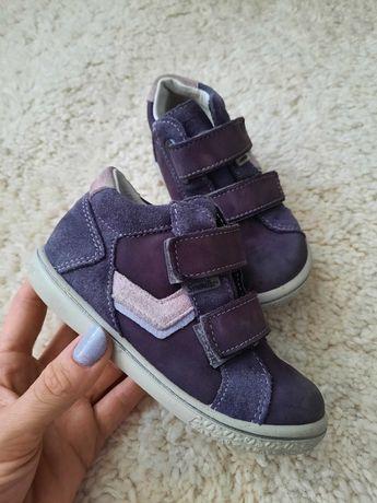 Кожаные ботинки на липучках Pepino by Ricosta, 24р.