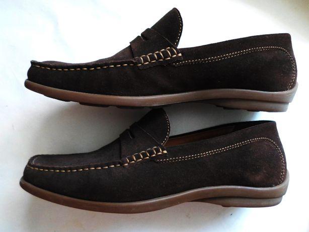 Замшевые кожаные мокасины туфли Germany 42 43р.