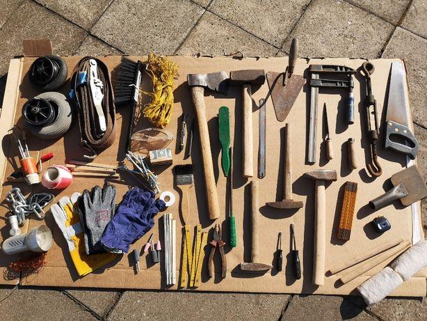 Stare narzędzia stolarskie, ślusarskie z epoki prl, warsztatowe