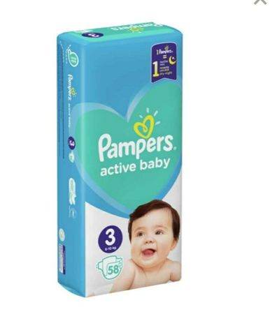 Памперси Pampers active baby 3  52 шт