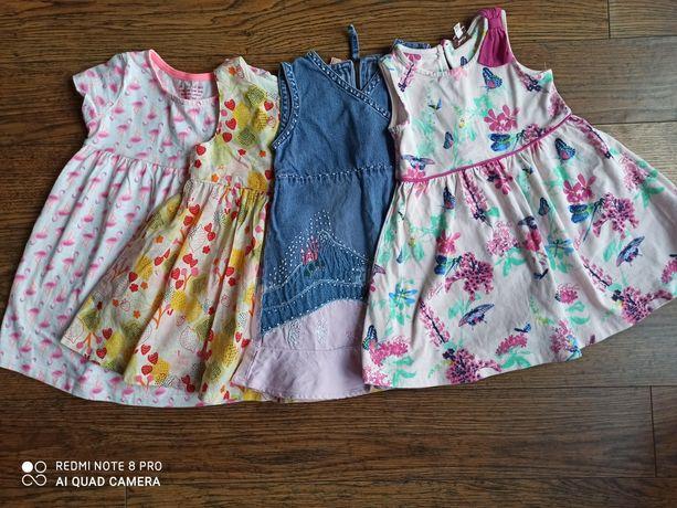 Zestaw ubranek dla dziewczynki-sukienki rozmiar 86