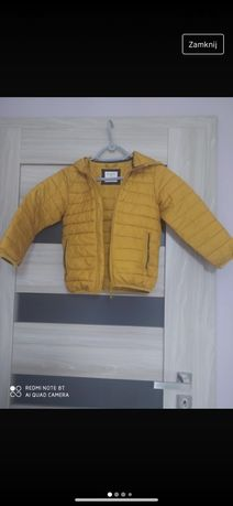 Musztardowa pikowana kurtka 122