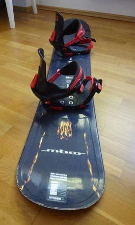 Snowboard Mboo deska z wiązaniami 160 cm
