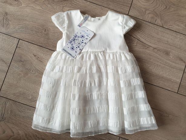 Nowa sukienka chrzest 62
