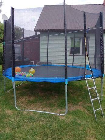 Trampolina ogrodowa FunFit duża stan idealny 374 cm