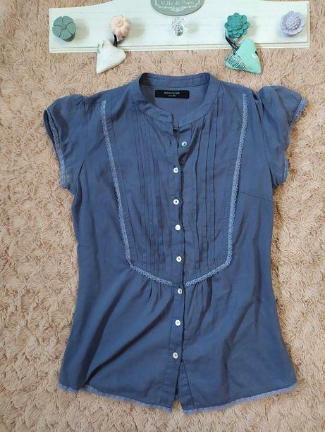 Bluzka koszula miękka Reserved XS chabrowa plisy