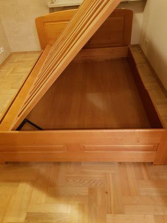 Łóżko 140x200, 2 szafki, półka