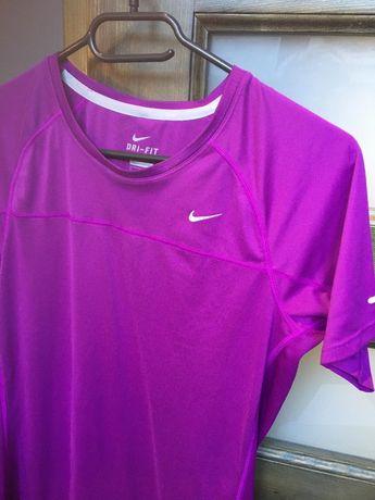 Nike dri fit koszulka sportowa fioletowa rozmiar M basic