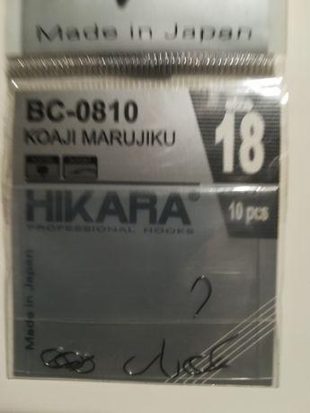 Haczyki HIKARA Koaji Marujiku Black Chrome BC-0810 ,nr 18