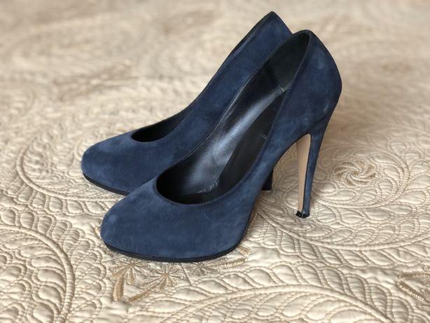 Итальянские туфли замша