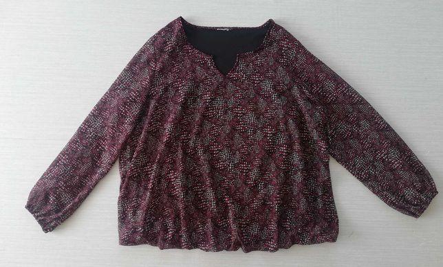 Elegancka bluzka w drobne wzorki r.50