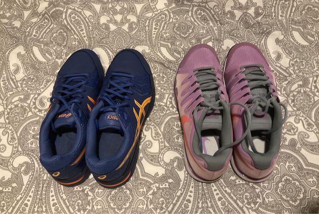 2 pares de sapatilhas nike e asics