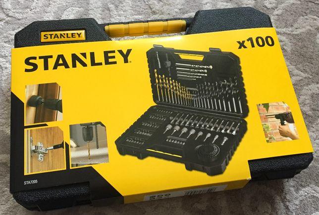 Stanley STA7205-XJ Zestaw wierteł 100 sztuk mocna kaseta