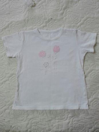 Bluzeczka z krótkim rękawkiem ,dziewczęca, śliczna , rozmiar116