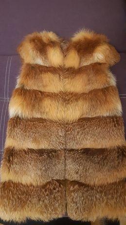 Продам срочно жилет из натуральной лисы