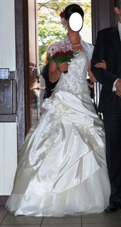Suknia ślubna ecru rozmiar 36-38