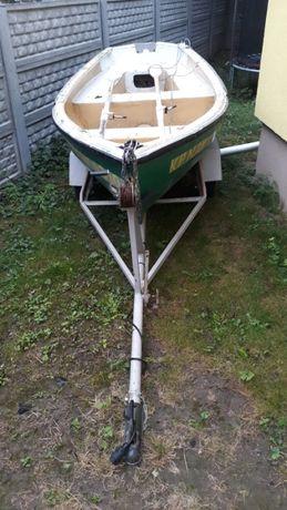 ŁÓDŹ wędkarska łódka WIOSŁA Przyczepka Zadbana