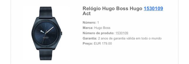 Relogio Hugo Boss