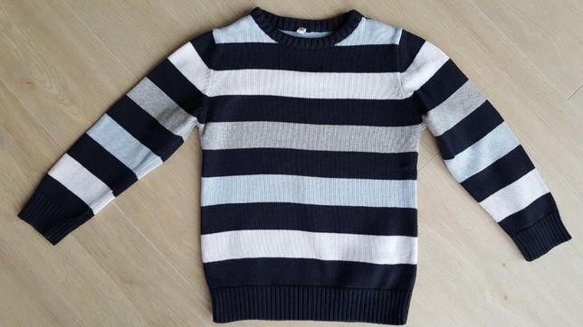 Sweter bawełna jesień C&A rozm. 116 bdb