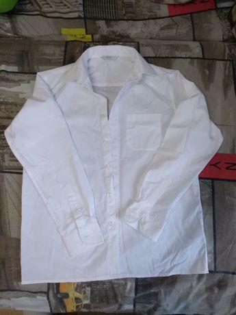 Новая белая рубашка на 12 лет