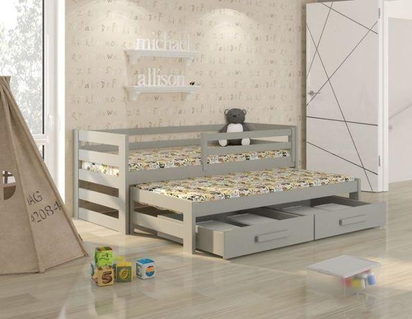 Łóżeczko dla dziecka dwuosobowe wysuwane KUBI -PREMIUM. Dostawa 7 dni