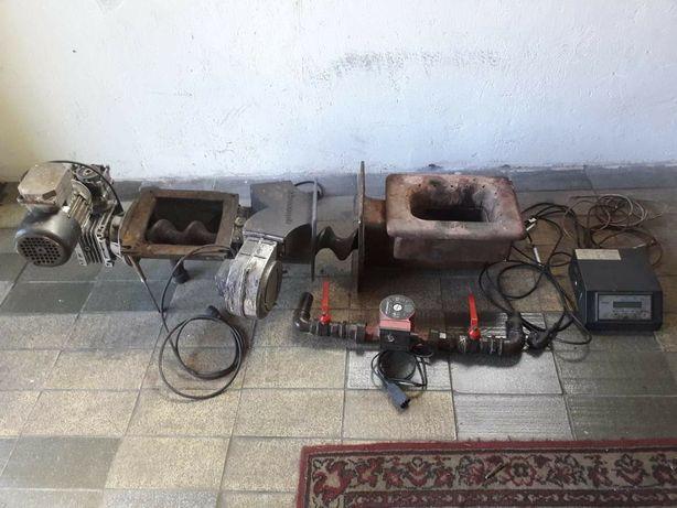 Podajnik, dmuchawa, komputer, pompka do pieca CO na ekogroszek
