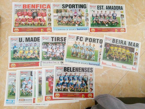 Conjunto Posters futebol Record