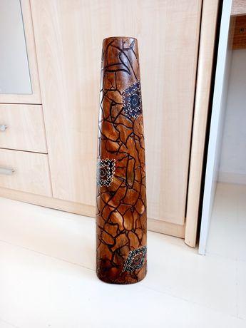 Wysoki brązowy egzotyczny wazon 53 cm