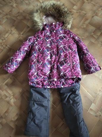 Срочно продам зимний комплект на девочку на 116 рост