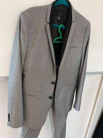 Szary garnitur H&M na 170 cm