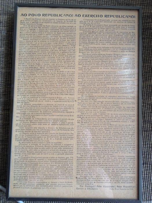 Primeira República panfleto revolucionário Parque das Nações - imagem 1